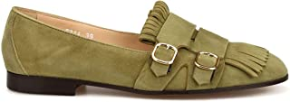 Luxury Fashion | Doucal's Women 8314MEGANF064TV17 Green Suede Loafers | Spring-summer 20