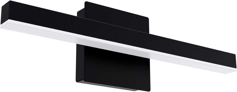 FOOO OFFicial LED Bathroom Vanity Lighting Dedication 15.8 Fixture Black Modern inch