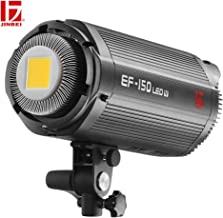 JINBEI EF-150W 150Ws Qa>95 5500±200K Bowens Mount Led Continuous Video Light,Wirelessly Adjust Brightness, 2.4GHz Grouping System,for Video Recording,Wedding,Outdoor Shooting
