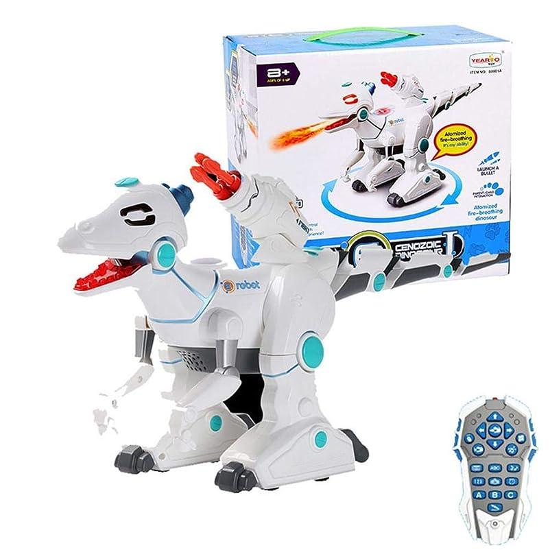 ラダのホスト成果リモートコントロールRCドラゴン、ライト付きロボット恐竜、サウンドキッドトイインタラクティブ