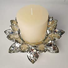 Crystal Lotus Candle Holders Glass Flower Candle Tea Candle Holder Home Decoration Gift