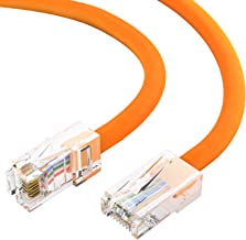 Cat5e Orange Ethernet Patch Cable Pack of 50 14 Foot Bootless by Konnekta Cable