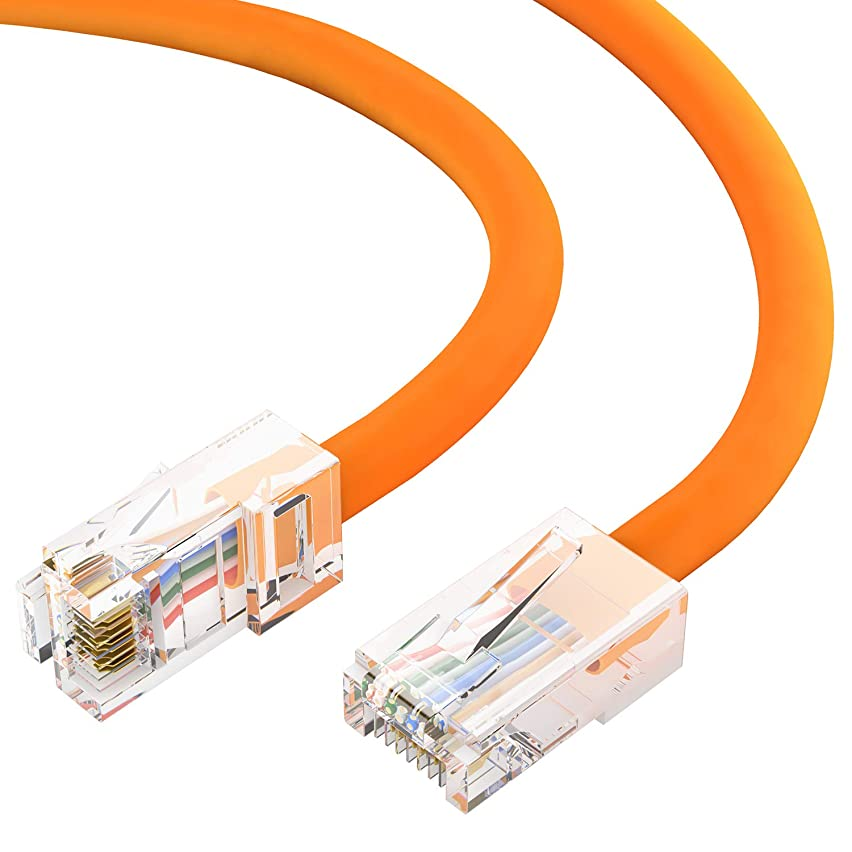 GOWOS Cat6 Ethernet Cable (5 Feet - Orange) 24AWG Network Cable with Gold Plated RJ45 Non-Booted Connector - High Speed LAN Internet/Patch Cable for PC/PS4/Xbox - ETL Listed