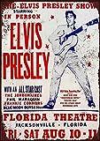 NOT Elvis Presley Concert Florida Theatre Blechschild Retro
