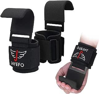 Jayefo Power Weight Lifting Training Wrist Support Hook BAR Straps Fitness Bars
