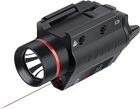 Rode Laser Zaklamp Combo 200 Lumen Wapen Licht, Tactisch Mini Pistool Red Dot Straal Met Rail Mount, Voor Outdoor Jacht