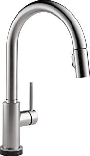 Delta Faucet Trinsic Single-Handle Touch Kitchen Sink Faucet with Pull Down Sprayer, Touch2O Technology and Magnetic Docking Spray Head, Arctic Stainless 9159T-AR-DST (Renewed)