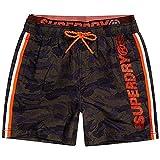 Superdry State Volley Swim Short Pantalones Cortos, Multicolor (Camo F28), M para Hombre