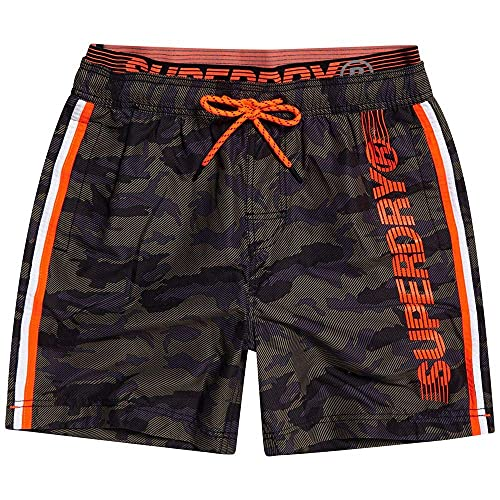 Superdry Heren State Volley Swim Shorts, meerkleurig (Camo F28), XS