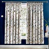 Dreams & Drapes - Mansfield - Juego de Funda de edredón, de fácil Cuidado, 100% poliéster, Gris, Curtains: 66' Width x 72' Drop (168 x 183cm)