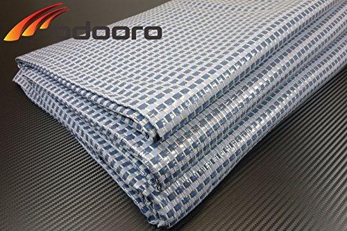 Zeltteppich ´´´odooro DURATEX 3,0m x 4m blau-grau *** 500 g/m² Outdoor Teppich Vorzelt Teppich Garten Spieldecke