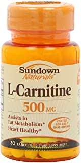 Sundown L-Carnitine, 500 mg, 30 Tablets (Pack of 2)
