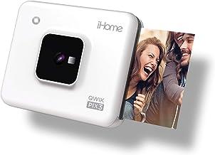 iHome Square 2-in-1 Instant Print Camera + Printer, Square 3x3 inch Printouts (White) (IHCP33-W)