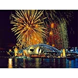 Rompecabezas Para Adultos 1000 Piezas Fuegos Artificiales En La Ópera De Sydney Montaje De Madera Personalizado Decoración Para El Juego De Juguetes Para El Hogar Juguete Educativo