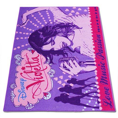 TW24 Disney Kinderteppich mit Motivauswahl 133x95cm Spielteppich Teppich Kinderzimmer (Violetta Love Music)