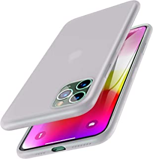 TOZO for iPhone 11 Pro Case 5.8 Inch (2019) Liquid Silicone Gel Rubber Shockproof Shell Ultra-Thin [Slim Fit] Soft 4 Side Full Protection Cover for iPhone 11 Pro (Semitransparent White)