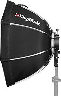 DIGITEK® (55cm) Lightweight & Portable Soft Box Comes with S2 Type Bracket & 2 Diffuser Sheets | Carrying Case | Compatibl...