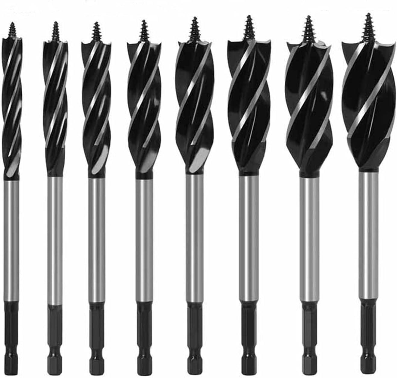 Max 41% OFF Popular brand 12-35mm Woodworking Twist Drill Bit Long 6.35mm Four-Slot Set Sh