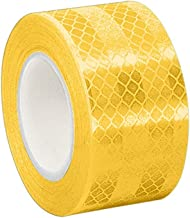 """3M 3431 Yellow Micro Prismatic Sheeting Reflective Tape, 2"""" Width x 50yd Length (Pack of 2)"""