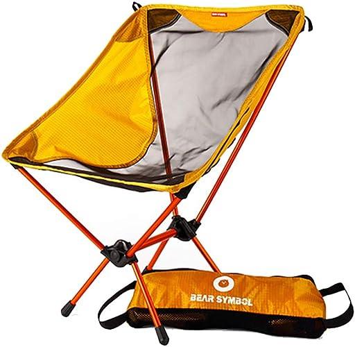 HECHEN Camping en Plein air Chaise Pliante 7075 Aviation en Aluminium Camping Barbecue Ultra léger Chaise Portable Simple