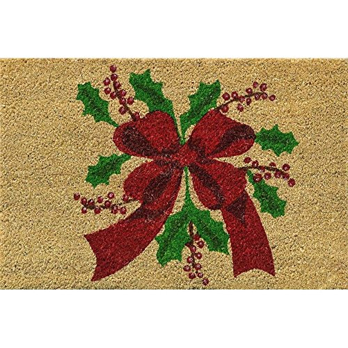 Verdemax 5457- Rectangular, diseño de flores de Navidad Felpudo, 40 x 60 cm