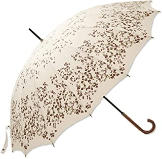 Household Umbrella Rain and Rain Umbrella Lady Sun Umbrella Large Weatherproof Umbrella Black, Red, White Optional LJJOZ (Color : White)