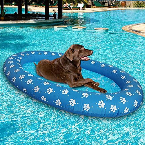 ShangSky Pool Luftmatratze für Hunde, Hund Schwimmbad aufblasbare Hängematte, Haustier Luftmatratze Schwimmbad Strand Spielzeug