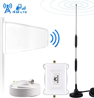Home Cell Phone Signal Booster AT&T T-Mobile 4G LTE 700Mhz FDD Band12/17 ATT Cell Signal Booster Repeater AT&T Mobile Phone Signal Booster Amplifier, Increase Data Speed&Reduce Dropped Calls-Omni+LPDA