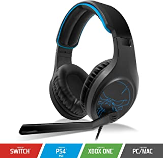 SPIRIT OF GAMER - ELITE-H20 - Auriculares Black Audio Pro Gamer - Cuero De Imitación - Micrófono Con Funcionalidad Flip And Mute - Compatible Con PC / PS4 / XBOX ONE / Switch - Doble Jack 3.5mm