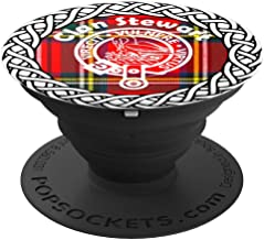 Stewart surname last name Scottish Clan tartan badge crest - PopSockets Grip and Stand for Phones and Tablets