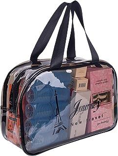 Clear Makeup Bag Organizer - Multifunction Waterproof Portable Travel Makeup Cosmetic Bags