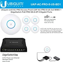 Unifi AC PRO Access Point UAP-AC-PRO-5-US Pre-Configured 5GHz 3x3 MIMO with EdgeSwitch PoE PRO ES-8-XP 8 Gigabit Ports 24V/48V Ready to Install