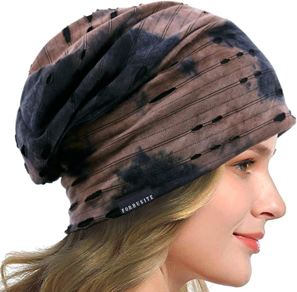 Womens Slouchy Beanie Thin Soft Lined Sleep Cap Lightweight Chemo Slap Summer Hat