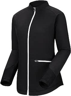 New Women Full Zip Woven Knit Panels Golf Pullover