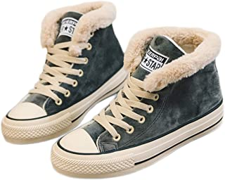 canvas snow sneakers