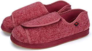 Women Diabetic Shoes Extra Wide Slippers Adjustable Edema Shoes for Pregnant Elderly People Arthritis Edema Slippers.