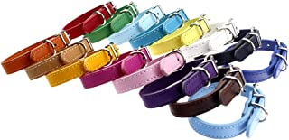 TenCloud Pet Collar Set of 12 or 16 Adjustable ID Collars Leather for Puppy Medium Large Breed Dogs Neck 6''~18''
