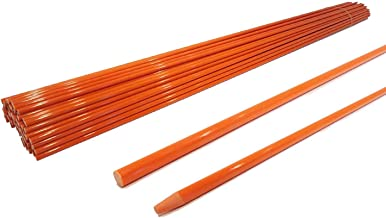 The ROP Shop | 5/16 Inch (Pack of 50) Orange 48 Inch Non-Reflective Driveway Markers, Snow Stakes Poles for Snow Plowing Driveways, Parking Lots, Walkways, Sidewalks