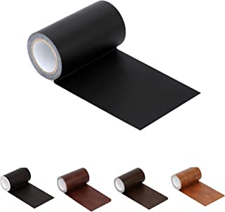 Leather Repair Tape Patch Leather Adhesive for Sofas, Car Seats, Handbags, Jackets,First Aid Patch 2.4X19 (inches) Black