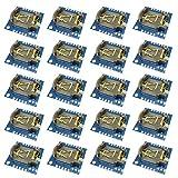 KKHMF 50個 DS1307 RTC 7クロックモジュール小型RTC I2C 24C32メモリArduino用