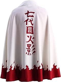 US Size Men's Uzumaki Cloak 7th Hokage Cloak Boruto Cosplay Costume