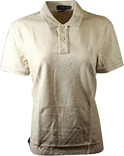 Polo Womens Classic Fit Mesh Polo Shirt (X-Large, Dune Tan)