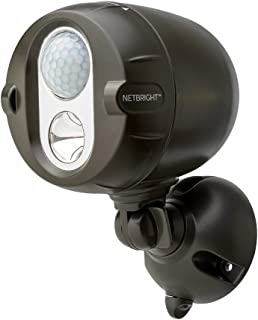 Mr. Beams MBN350 200-Lumen Networked LED Wireless Motion Sensing Spotlight System with Net Bright Technology, Brown
