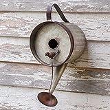 Birdhouse Rustic Country Theme Outdoor Farm House Garden Decor Watering Can