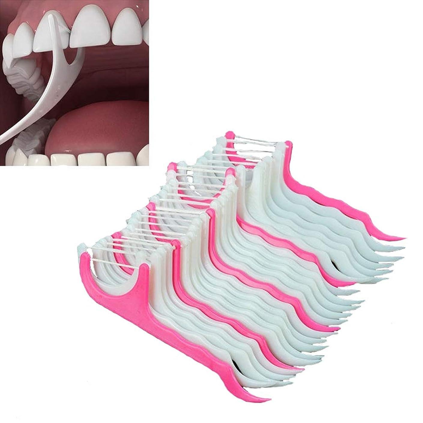 純粋に居住者よろしく200倍のプラスチック製の歯は、口腔ガムの歯のクリーンケアのフロススレッドデンタルフロッサーを選ぶ