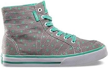Vans Corrie Hi Top Chambray Dots Grey/Mint Green (Ms 11.5)