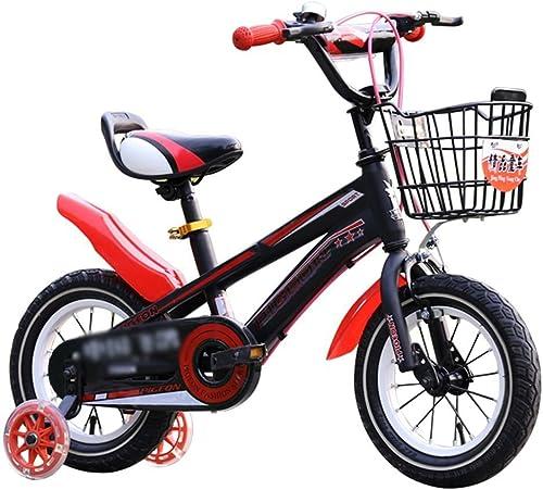 precioso Bicyclehx Bicicletas para Niños Marco metálico Patas Ajustables de de de Fácil Alcance Confort Acolchado Sillín Regalo para Niños Bicicleta para Niños en azul, rojo, amarillo  Sin impuestos