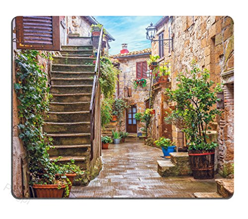Pingpi Gaming Mouse Pad Custom,Italy Tuscan Personalized Design Non-Slip Rubber Mouse pad