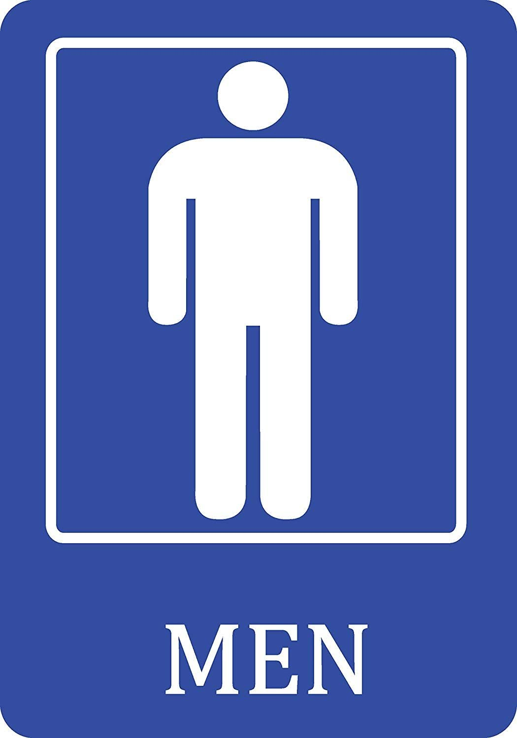 Amazon Com New Great Mens Bathroom Blue Sign Men Public Restroom Signs Aluminum Metal 12x18 For Outside Inside Single Sign Office Products