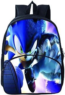 Mochila para Niños Impresa Sonic, Mochila Escolar Sonic The Hedgehog Daypack, Mochilas para Laptop para Niños, Niñas, Adolescentes, Aficionados a los Juegos de Regalo